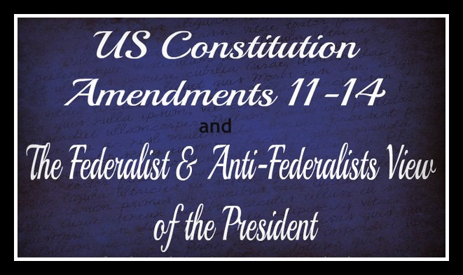 Federalist and Anti Federalist Views of the President