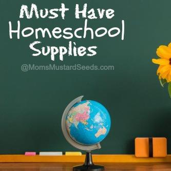 Must Have Homeschool Items