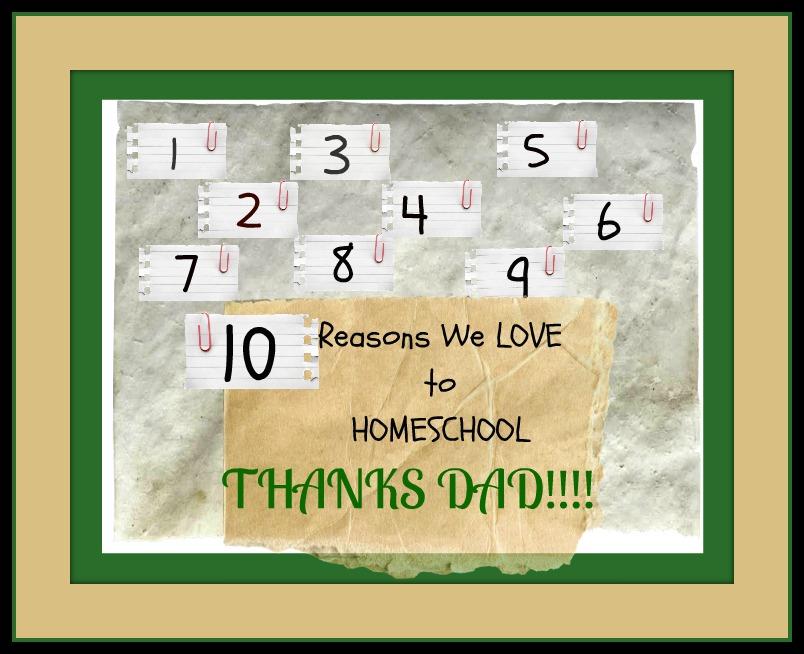 Ten Reasons We love to Homeschool