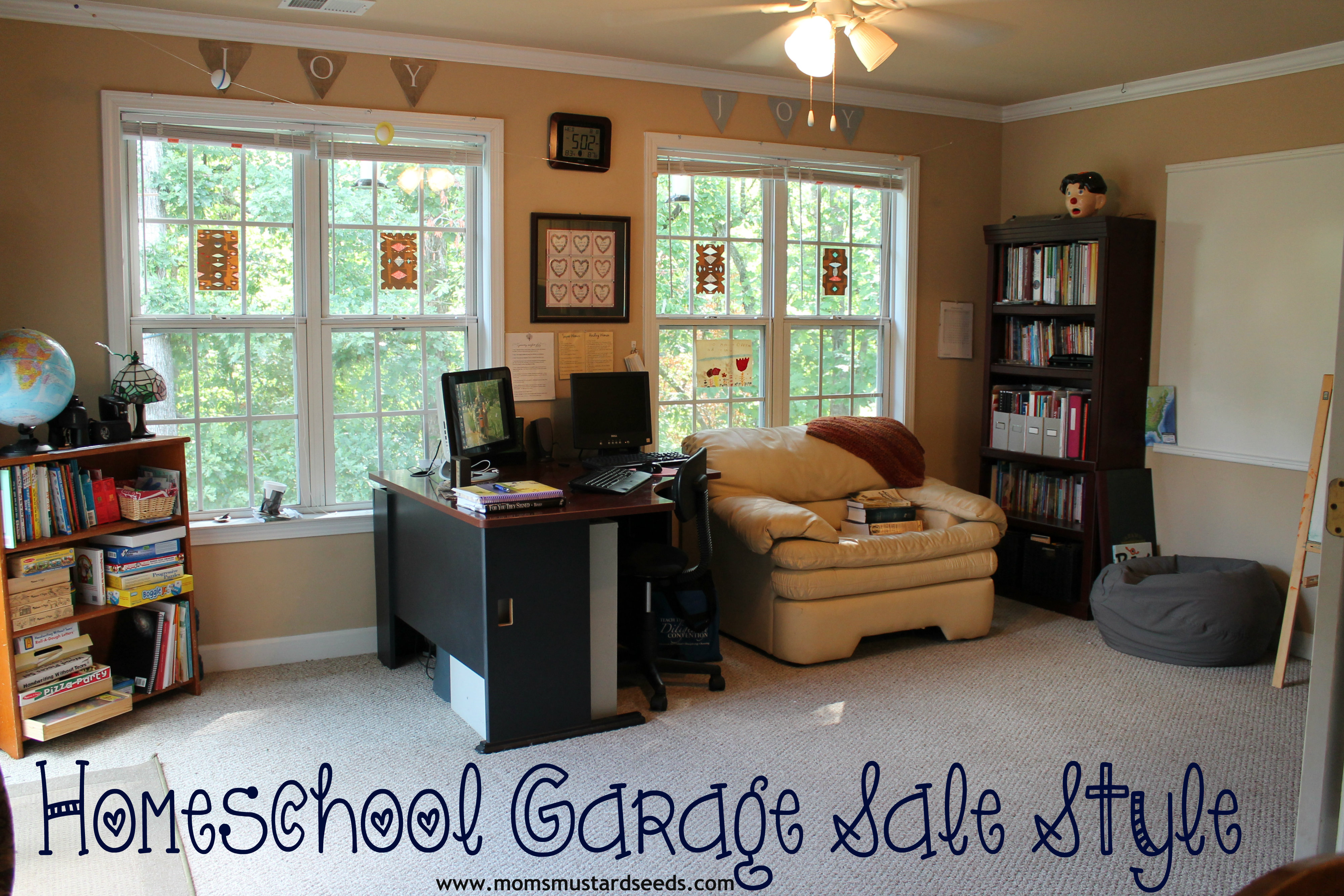Home School Furniture New Homeschool Classroom Garage Sale Style  Mom's Mustard Seeds Inspiration