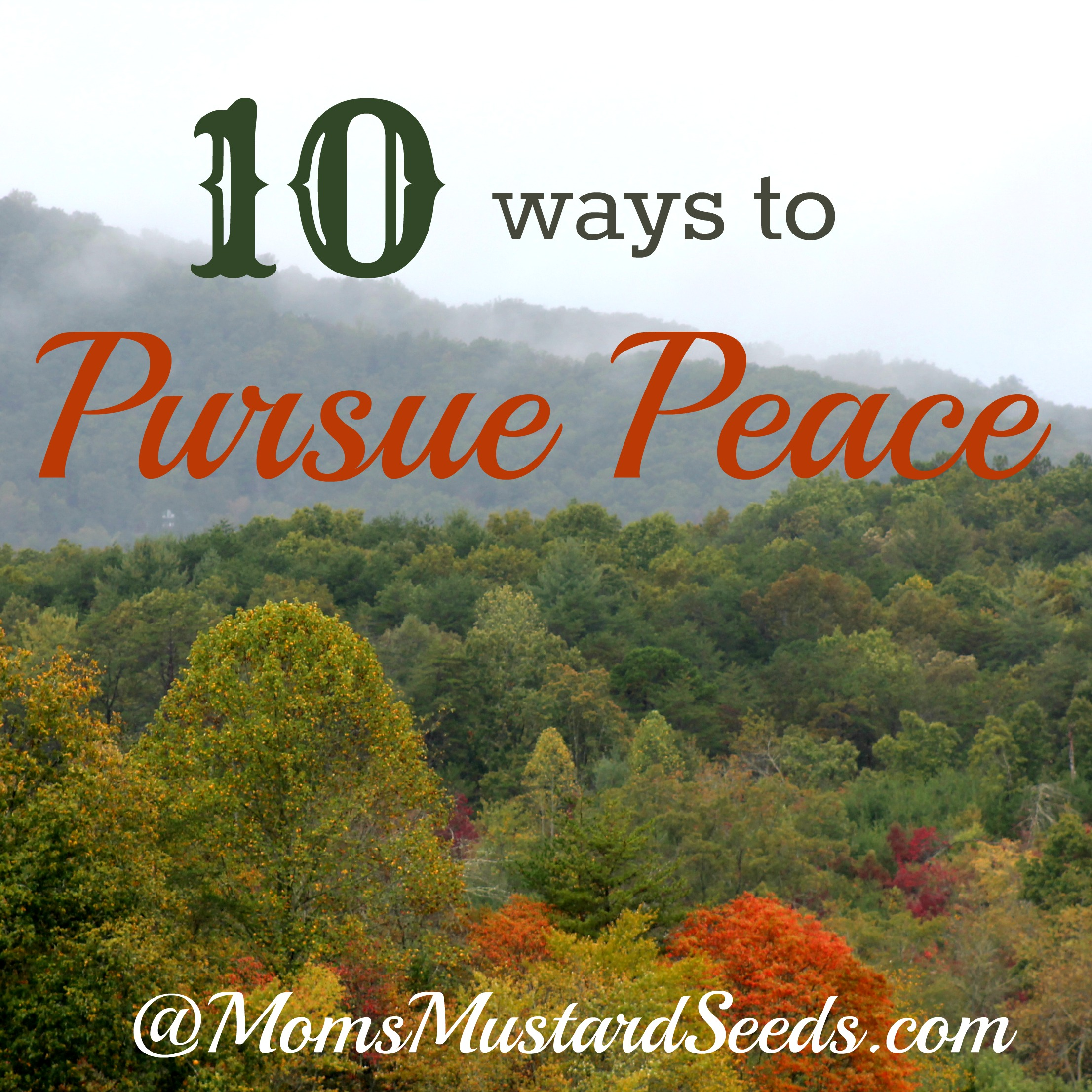 10 Ways to Pursue Peace at the End of the Day