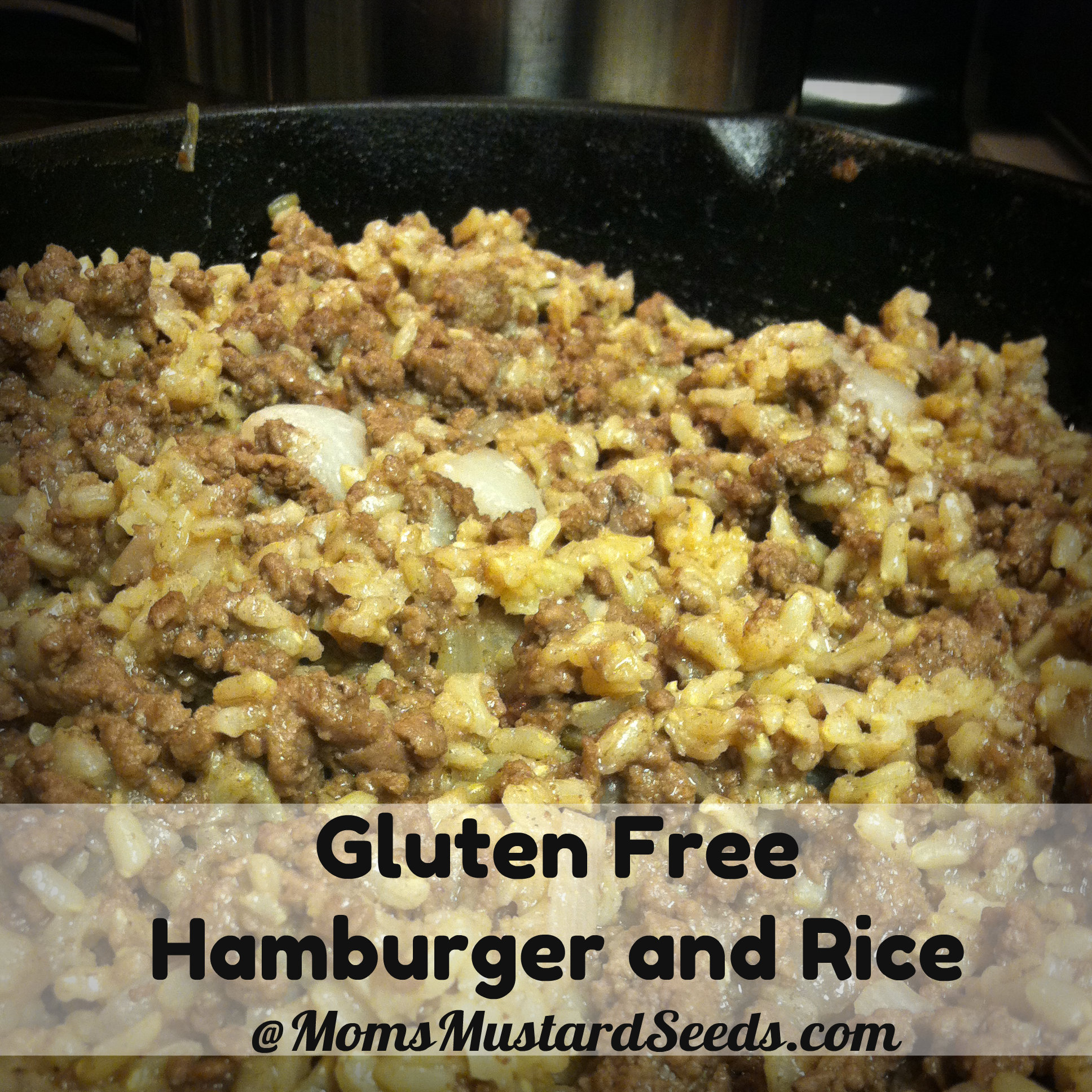 Easy Gluten Free Hamburger and Rice Dish