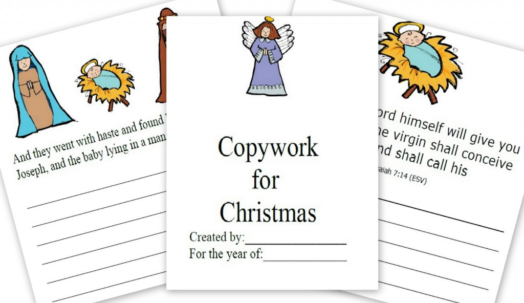 Christmas Story Copywork and Notebooking Pages