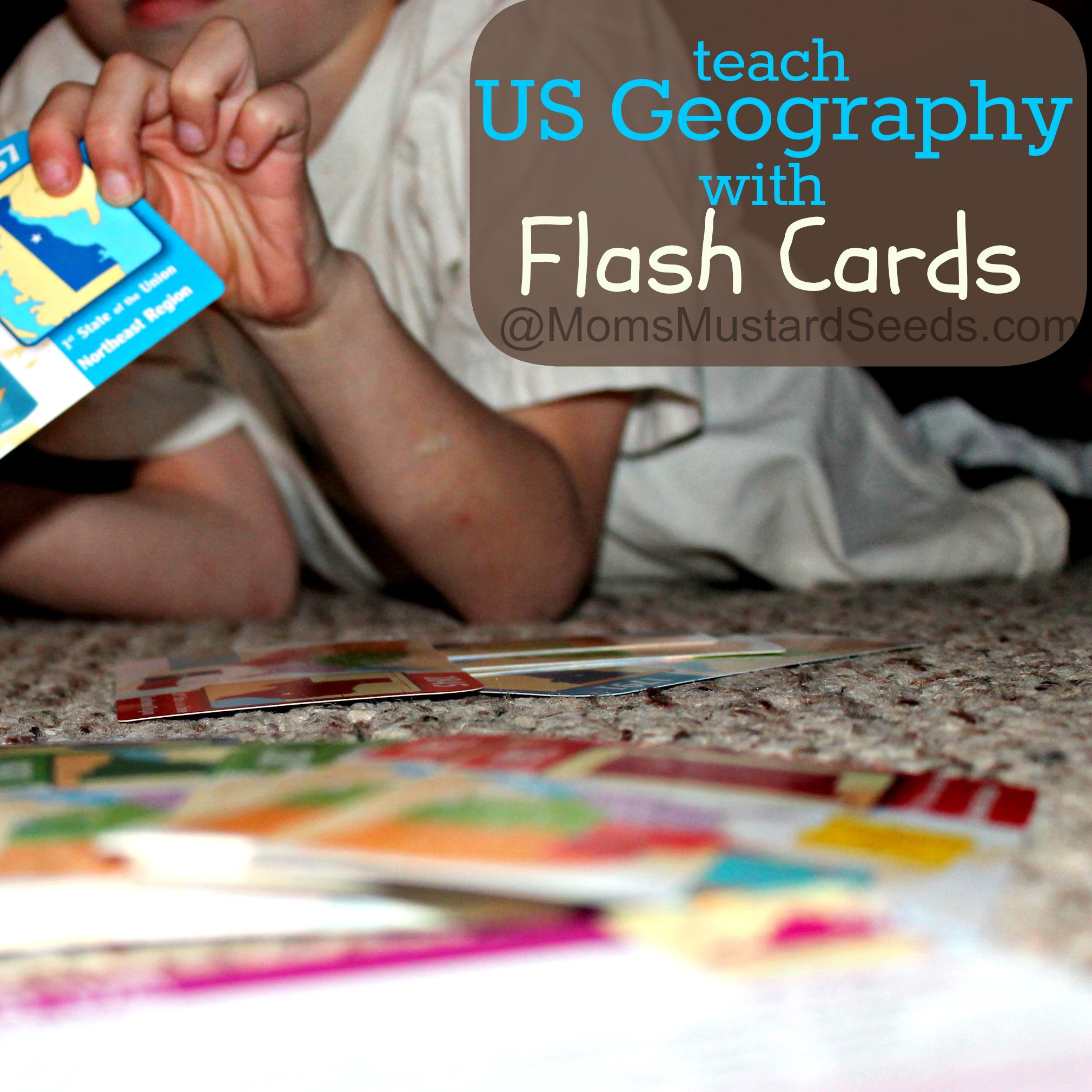 Teach US Geography with Flash Cards