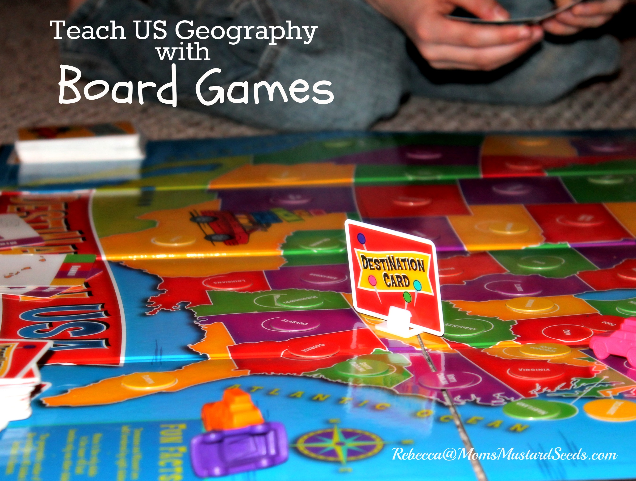 Teach US Geography with a Board Game