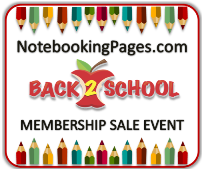 Notebooking Pages Back To School Sales Event
