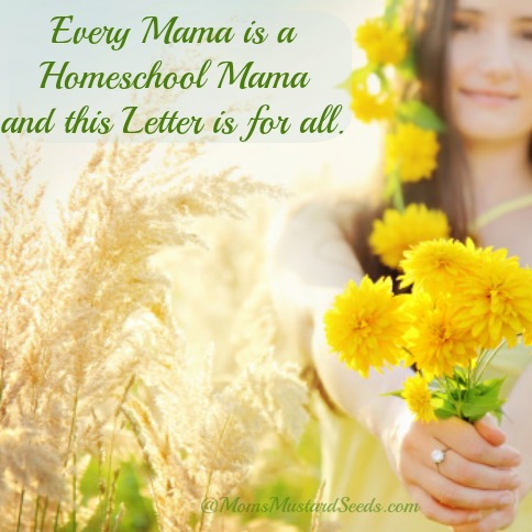 Every Mama is a Homeschool Mama and this Letter is for all…