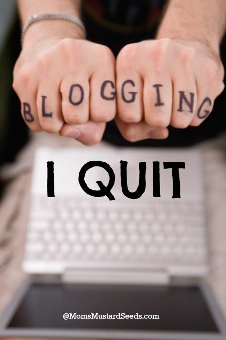 I'm Quitting Blogging