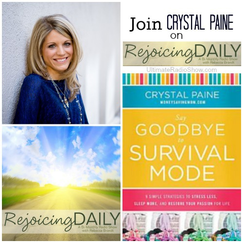 Join Crystal Paine on Rejoicing Daily - www.ultimateradiowshow.com on the Rejoicing Daily Podcast