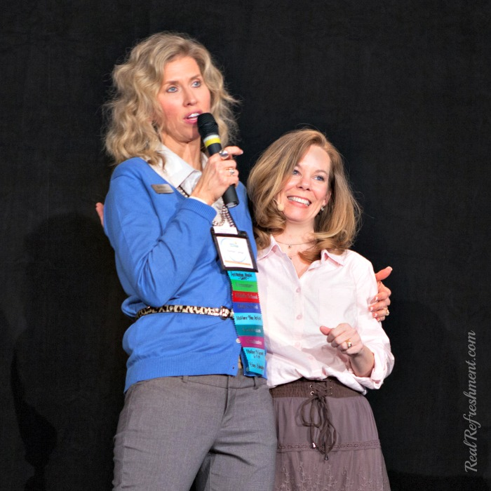 Rachael Carman introducting Rebecca Brandt for the prayer session at Real Refreshment Atlanta 2014.jpg