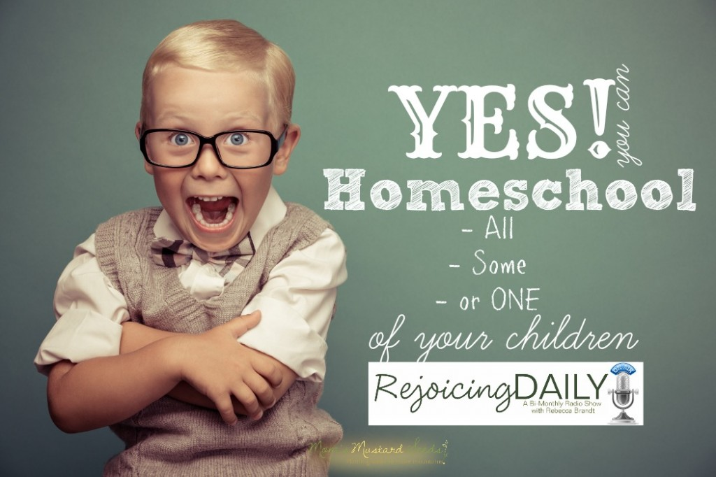 Yes, you can homeschool all, some, one or none of your children.