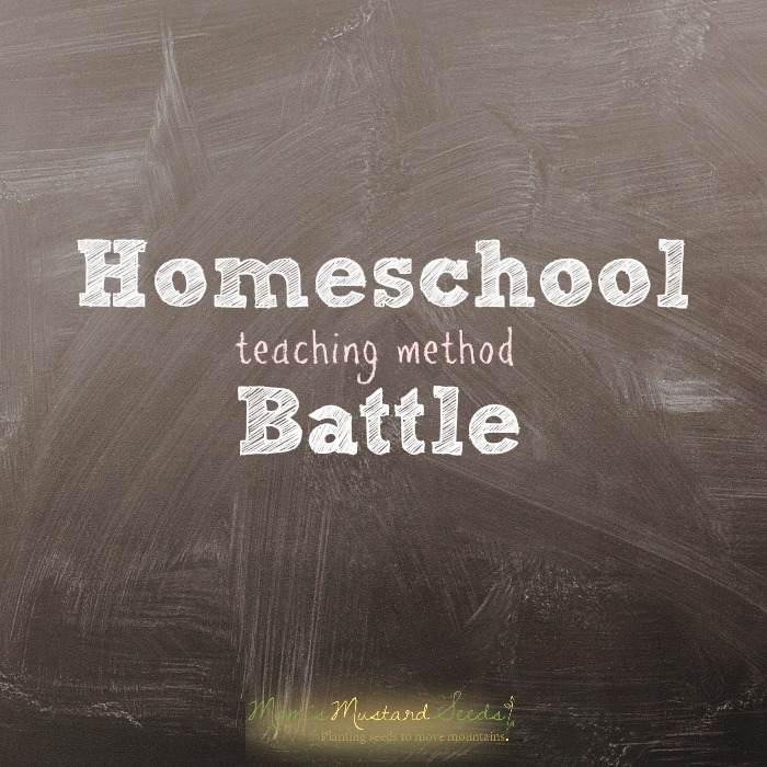 homeschool teaching method battle