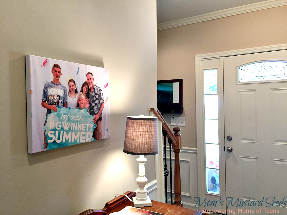 Hang a Family Photo with Canvas Factory in your home with this giveaway