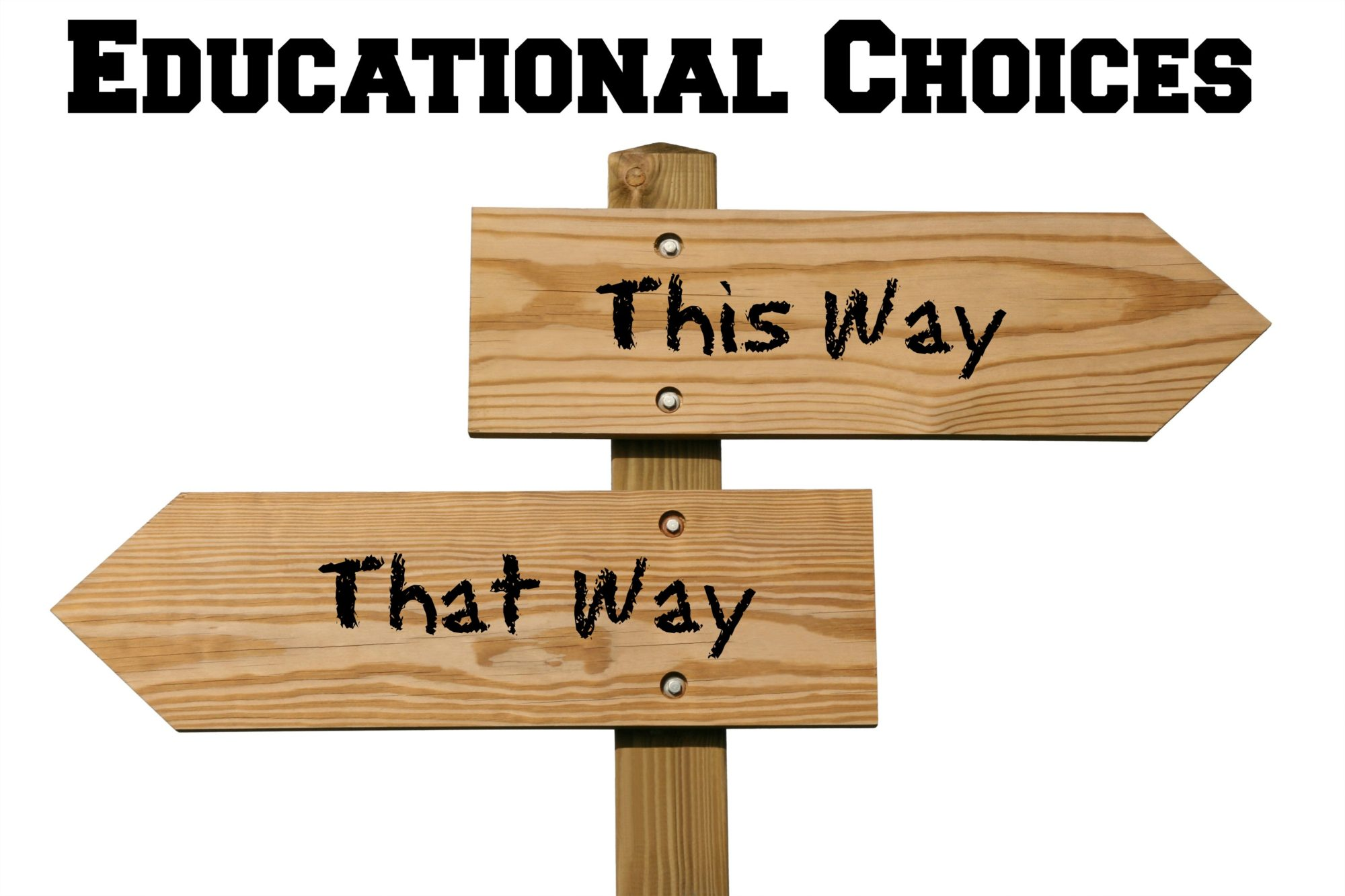 educational choices this way that way